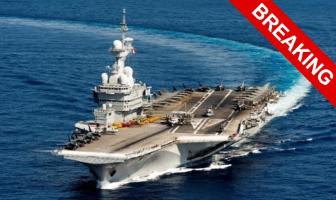Франция отправила к Сирии авианосец.