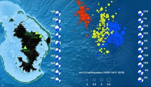 На Гавайах просыпается подводный вулкан.
