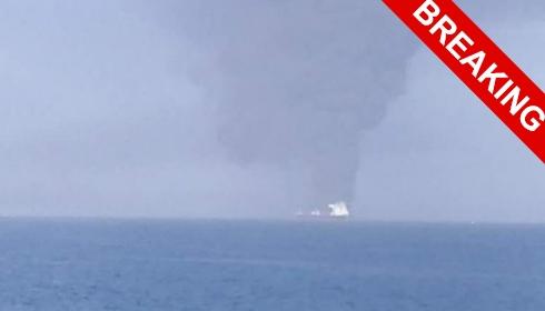 В Оманском заливе взорваны два танкера. ОБНОВЛЕНИЕ №7: видео с вертолета + первые фото с палубы танкера.