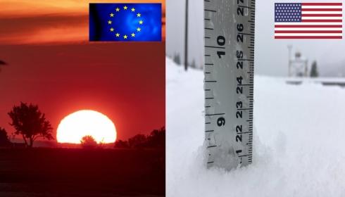 В Европе невиданная за 1500 лет жара, а в США всё еще идет снег.