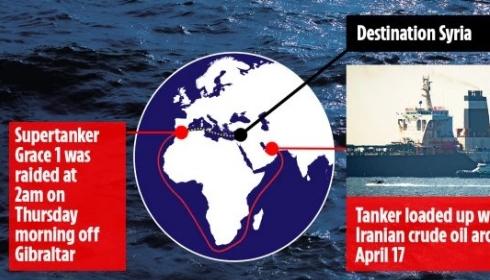 Иран угрожает Великобритании ответным захватом британского торгового судна.