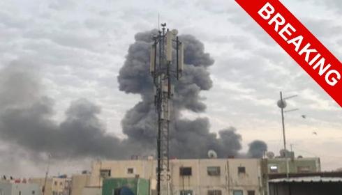 Взорвана и горит бывшая главная военная база США в Багдаде. ОБНОВЛЕНО.