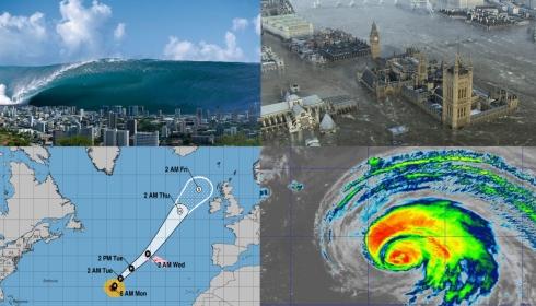 К концу недели Британию смоет: высота волн от урагана Лоренцо достигнет 30 метров!