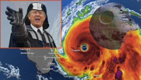 Ураган Дориан остановила магия Трампа?