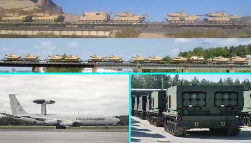 Америка отправляет в поход всё новые и новые танковые бригады.