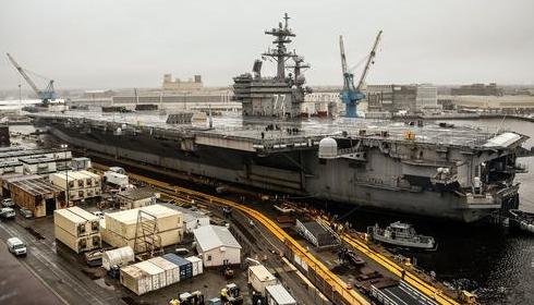 Авианосец USS George H. W. Bush готовится в свой последний поход.