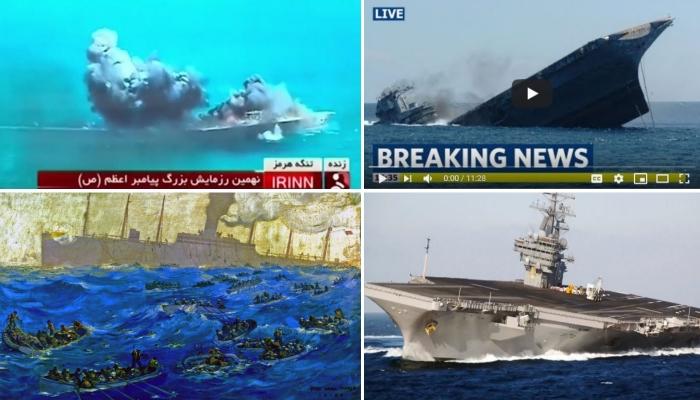 Война в Иране начнется после того, как будет затоплен USS Abraham Lincoln.