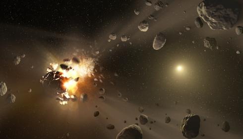 Прямо сейчас Земля пролетает сквозь облако астероидов.