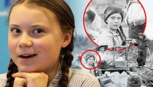 Грету Тунберг нашли на фото 1898-го года.