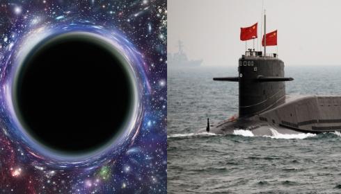 Китайскую подводную лодку в Южно-Китайском море затянуло в... черную дыру.